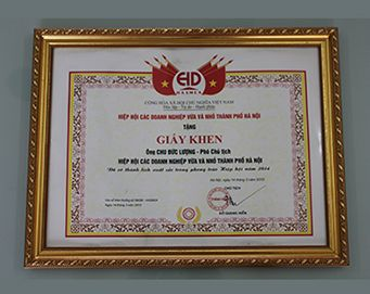 "Merit of the Association of Hanoi small and medium enterprises for: ""outstanding achievements association movement in year 2014 """