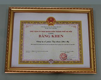 "Merit of the President of the people's Committee of Hanoi City for: ""Achievement in the development of Association of Hanoi small and medium enterprises in 2015"""