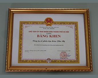 "Merit of the President of the people's Committee of Hanoi City for: ""Achievement in the competition of enterprises in 2013"""