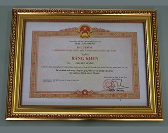 "Merit of the Prime Minister of the Socialist Republic of Vietnam: ""had merits in the work, contributing to the building of socialism and defending nation"""